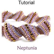 bracelet with beads patterns images Neptunia peyote bracelet digital pdf beading tutorial simple jpg