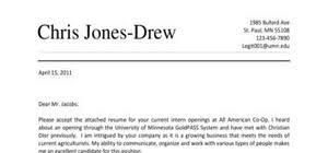 internship cover letters examples and templates