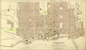 London Canada Map by Historical Maps Of Toronto 1857 Fleming Ridout U0026 Schreiber Plan