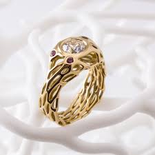 pave mens ring diamond and ruby 3d printable 3ders org nervous system introduces custom 3d printed diamond