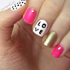 easy valentine u0027s day nail art tutorial popsugar beauty