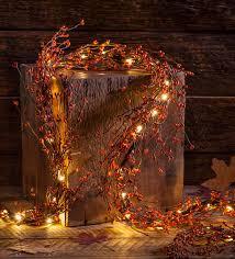 lighted autumn berry garland wreaths u0026 garlands fall decor
