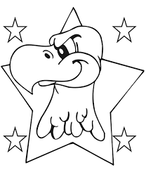 eagle coloring page an eagle in a 5 point star