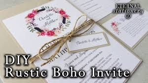 diy invitations how to make a rustic boho floral wreath wedding invitation diy