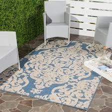 Indoor Outdoor Rugs Home Depot by Safavieh Monroe Blue 9 Ft X 12 Ft Indoor Outdoor Area Rug