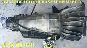 e36 bmw auto to manual swap pt 2 youtube