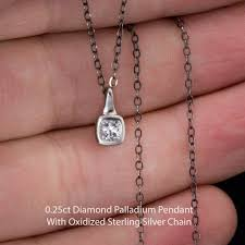 silver drop pendant necklace images Cut diamond palladium drop pendant necklace jpg