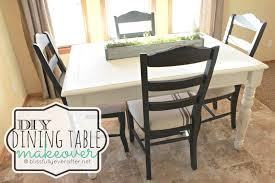 makeovers chalk paint kitchen table and chairs diy dining room Build Dining Room Chairs