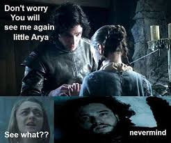 Arya Meme - a girl is arya stark of winterfell and i m going home here are the