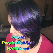 how to purple highlights w o bleach youtube