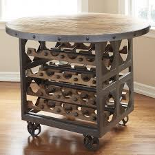 repurposed industrial wine storage pub table wine enthusiast
