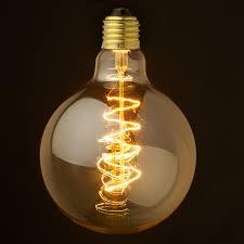 what is an incandescent light bulb edison spherical spiral filament bulb g125