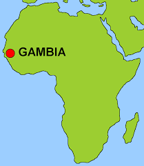 africa map gambia gambia map of africa