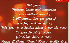 birthday cheers birthday poem for brother birthdaywishings com