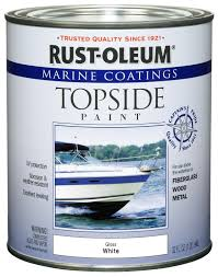 Rustoleum For Metal Patio Furniture - amazon com rust oleum 206999 marine topside paint white 1 quart