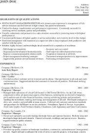 resume exles objective sales revenue equation cost sle resume restaurant manager