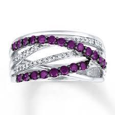 kay jewelers class rings jared purple diamond ring 1 ct tw round cut 14k white gold