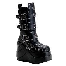 s yamaha boots demonia outlaw 201 buckle platform boots demonia shoes