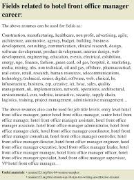 Hotel Front Desk Resume Examples Sample Resume Of Office Manager Fields Related To Hotel Front