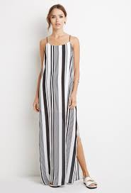 forever 21 multi stripe maxi dress in white lyst