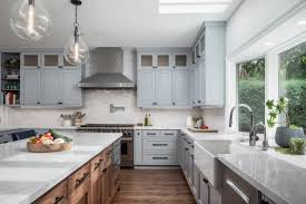 are grey cabinets going out of style 75 beautiful kitchen with gray cabinets and brick backsplash