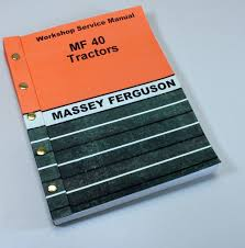 massey ferguson repair manual ebay