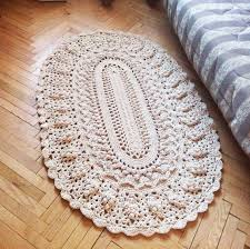 Rag Area Rug by Crochet Oval Dolly Rug Round Cotton Rug 5940 In Area Rug