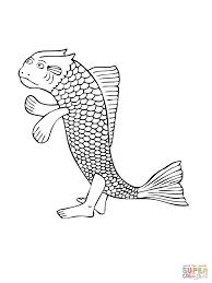 fish coloring pages print mudskipper walking fish coloring page free printable coloring pages
