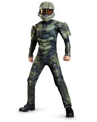 light up halloween costumes halo master chief classic muscle child dress up halloween