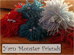 mom mart kid craft make a yarn monster friend