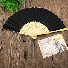 personalized wedding fans 80pcs lot free shipping personalized wedding fans with silk cloth