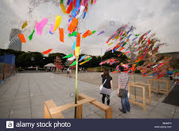 celebration of tanabata festival at zojoji temple minato ku stock