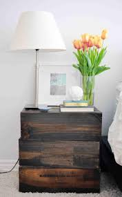 Interior Color Simple Modern Diy Stacked Bedside Nightstand Table Lamp With Dark