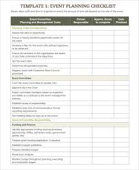 Event Planning Checklist Template Excel Event Checklist Template 11 Free Word Excel Pdf Documents