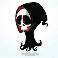 scary halloween white background vector cartoon illustration of spooky halloween death skeleton