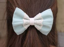 bows for hair blue with lace bow hair bow for hair bows lace bows lace