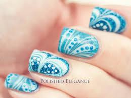 paint nails with water water nail polish design