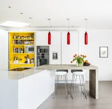 Red And White Kitchen Designs 12 Modern White Kitchen Design With Yellow Accent Ideas
