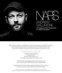 narsissist 39 s uk makeup artist ambador andrew gallimore is in this week and you could