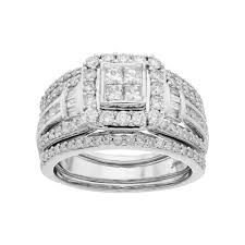 halo engagement ring settings 10k white gold 1 1 2 carat t w square halo engagement
