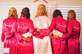 and bridesmaid robes personalized bridal robes aka getting ready in robes