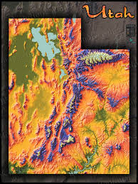 Topographical Map Of Georgia Physical Map Of Utah Topography Colorful Mountains And Terrain