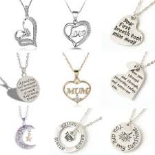 necklace for mothers fashion heart rhinestone silver chain pendant necklace
