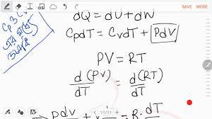 v cv cv relation between cp and cv