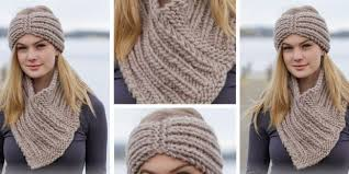 knitted headband chunky knitted headband and cowl free knitting pattern