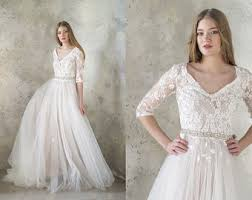 wedding dress long sleeve bohemian wedding dress boho