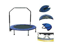 Mini Trampoline With Handrail Fitness Trampoline 38 Inch Handrail Fitness Workout Cardio Gym
