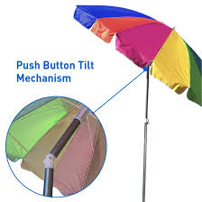 Cheap Beach Umbrella Amazon Com Easygo Rainbow Beach Umbrella Portable Wind Beach