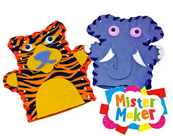 mister maker wild animal hand puppet making kit kids craft gift