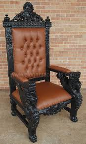 Throne Style Chair Winged Lion Throne Chair Black
